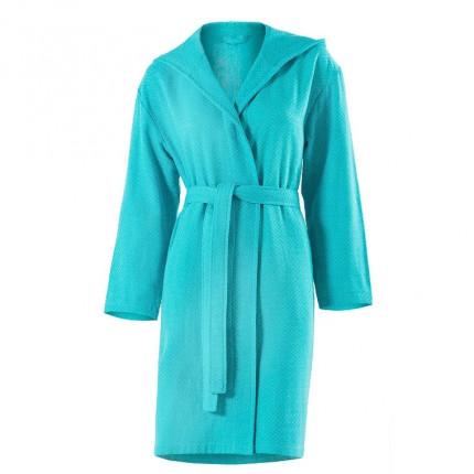 Peignoir femme coton Azur turquoise