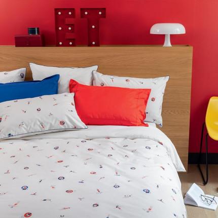 Parure de lit percale de coton imprimée marins Baigneur urbain