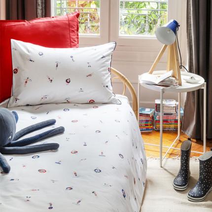 Parure de lit percale de coton imprimée marins Baigneur enfant