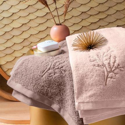 Parure de bain coton et bambou Blush