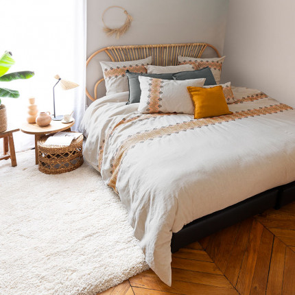 Parure de lit lin et coton Boho
