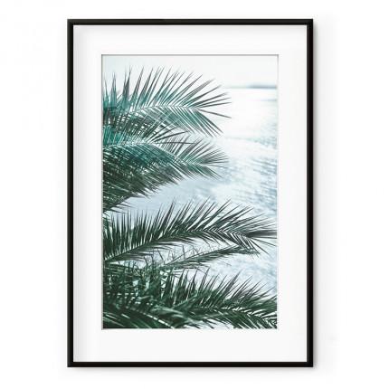 Cadre rectangulaire palmier DECO