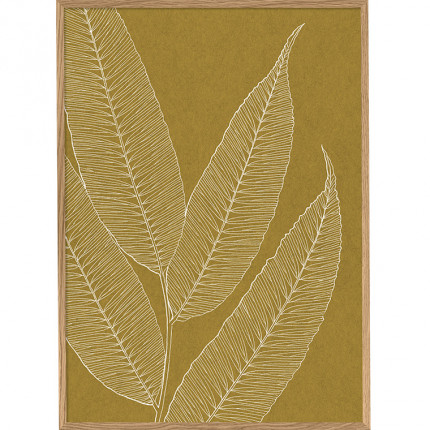 Cadre rectangulaire végétal DECO OCRE