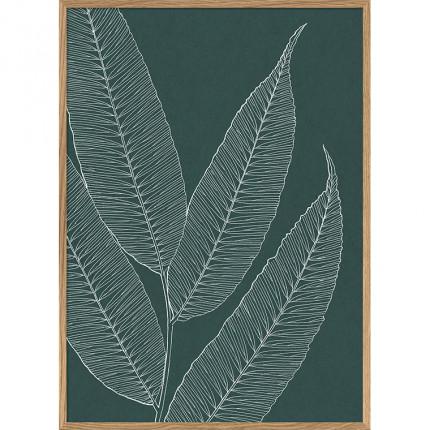Cadre rectangulaire végétal DECO VERT