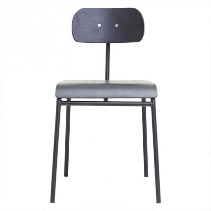 Chaise vintage métal DECO NOIR