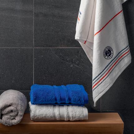 Parure de bain bouclette de coton brodée Roland-Garros Chelem