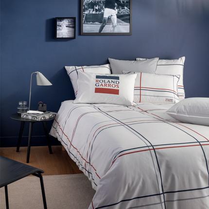 Parure de lit percale de coton imprimée Roland-Garros Chelem