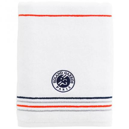 Drap de bain bouclette de coton brodé Roland-Garros Chelem