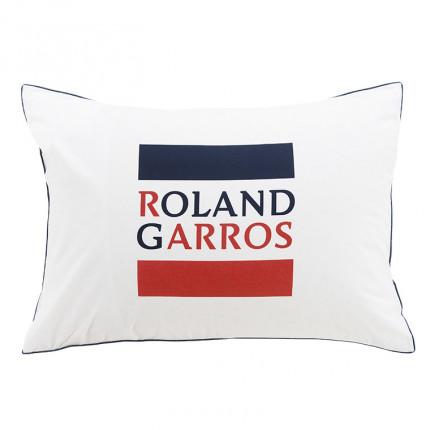 Taie d'oreiller rectangulaire percale de coton imprimée Roland-Garros Chelem