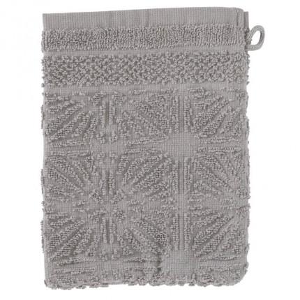 Gant de toilette coton Chiara gris