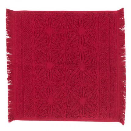 Lavette coton Chiara griotte