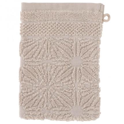 Gant de toilette coton Chiara grège