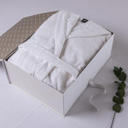 Coffret cadeau peignoir femme coton bio Osmose blanc
