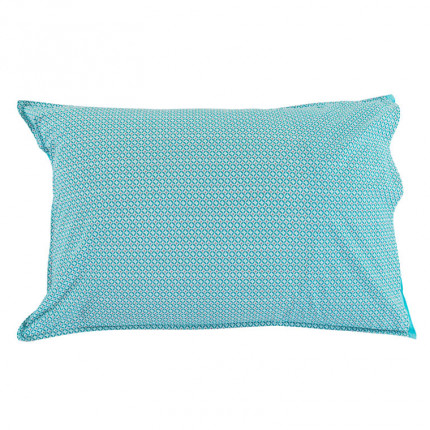 Taie d'oreiller rectangulaire CURACAO TURQUOISE