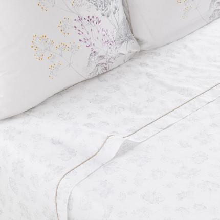 Drap de lit percale de coton fleur Cybèle