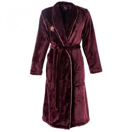 Robe de chambre femme polaire brodé Divine sental