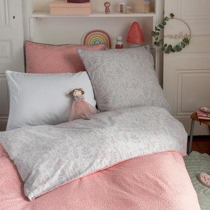 Parure de lit enfant pur coton biologique lavé imprimée liberty Envol