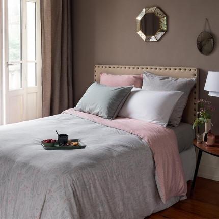 Parure de lit pur coton biologique  lavé imprimée liberty Envol classique chic maison de campagne