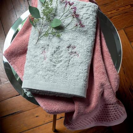 Parure de bain coton biologique brodée liberty Envol