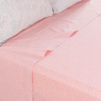 Drap de lit pur coton biologique lavé imprimé liberty Envol