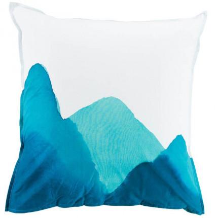 Taie d'oreiller carrée percale de coton imprimée fresque paysage Evasion