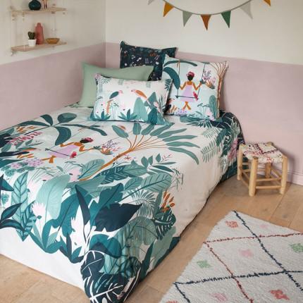 Parure de lit pur coton biologique imprimée tropical Frida exotique