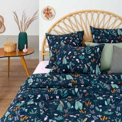 Parure de lit pur coton biologique imprimée tropical Frida vintage