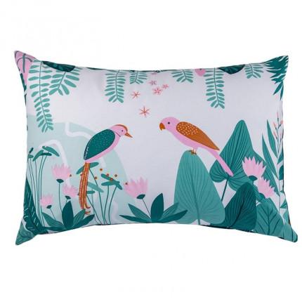 Taie d'oreiller rectangulaire pur coton biologique imprimée tropical Frida