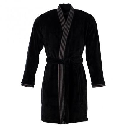 Veste polaire homme kimono Havane anthracite