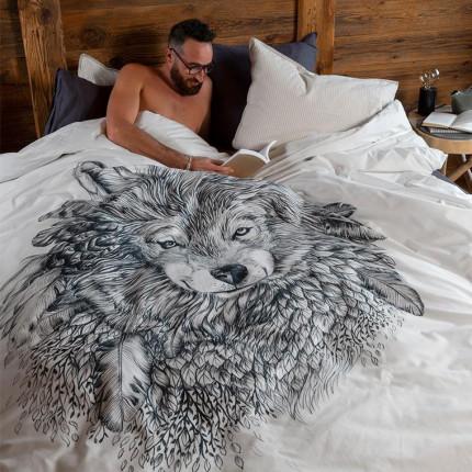Parure de lit percale de coton Ietu bohème
