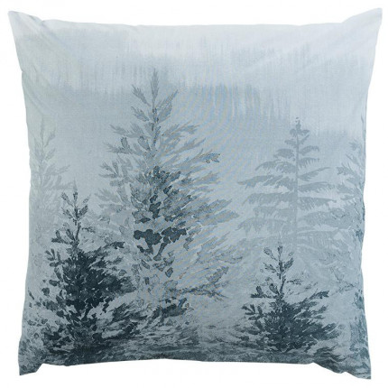 Taie d'oreiller carrée percale de coton imprimé forêt Ietu