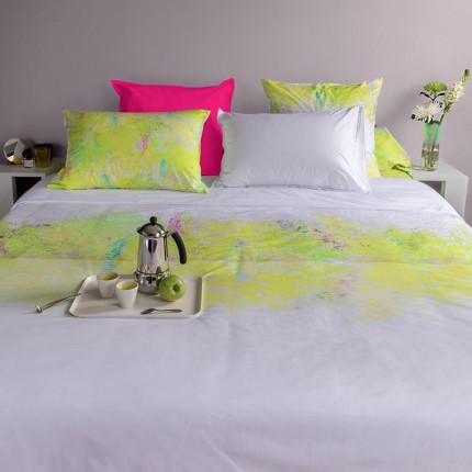 Parure de lit percale de coton imprimée paysage Infusion urbain