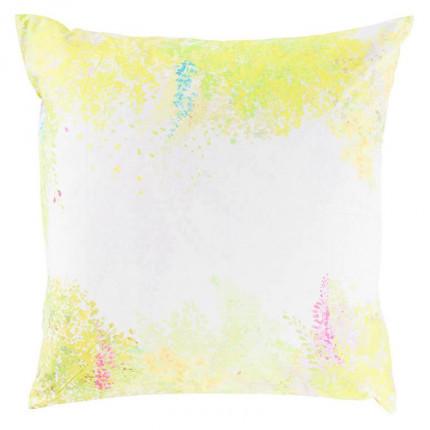Taie d'oreiller carrée percale de coton imprimée paysage Infusion