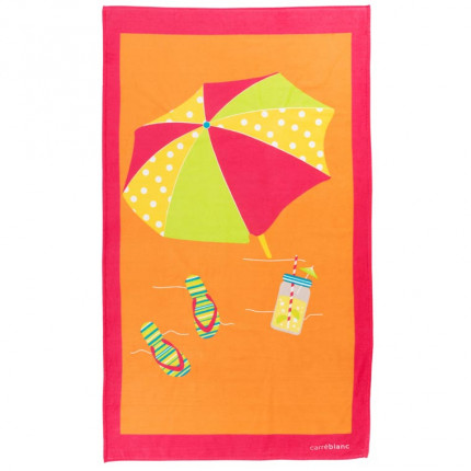 Serviette de plage velours parasol IPANEMA