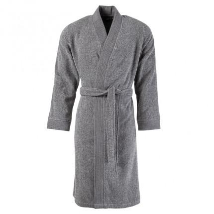Peignoir homme bouclette de coton kimono uni Irbis gris