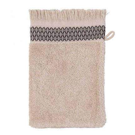 Gant de toilette bouclette de coton Java grège