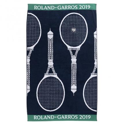 Serviette de plage Roland Garros 2019 marine
