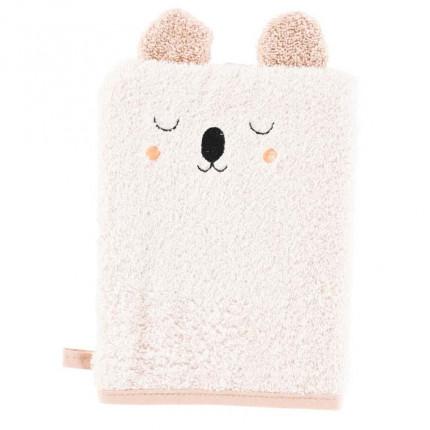 Gant de toilette coton broderie koala Koalin lin