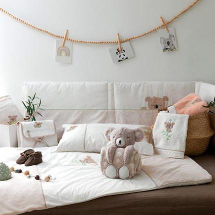 Parure de lit bébé percale de coton Koalin