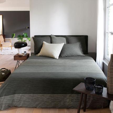 Parure de lit pur coton imprimée camouflage Latina urbain