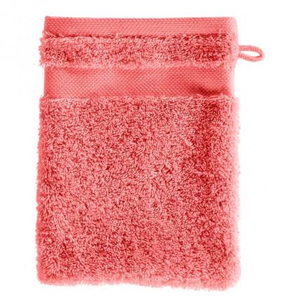 Gant de toilette coton Lola II corail