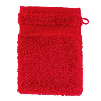 Gant de toilette coton Lola II rouge