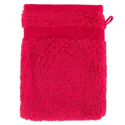 Gant de toilette coton Lola II framboise