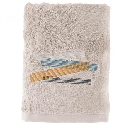 Serviette de toilette bouclette de coton brodée Lorenzo lin