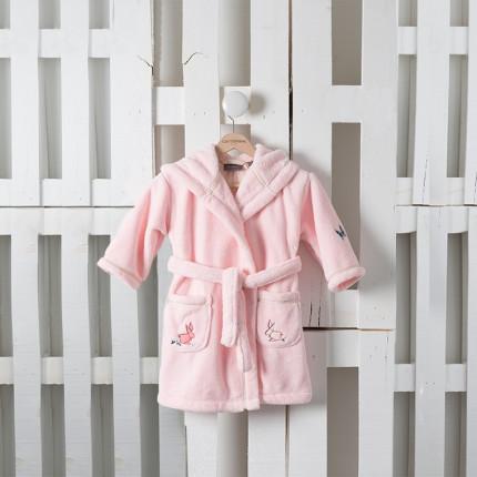 Robe de chambre enfant LOUISE ROSE