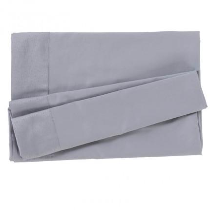 Drap de lit satin de coton Maestro gris