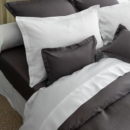 Drap de lit satin de coton Maestro blanc