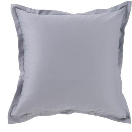 Taie d'oreiller carrée satin de coton Maestro gris