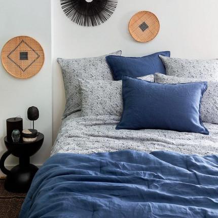 Parure de lit percale de coton Mahoa bohème / exotique