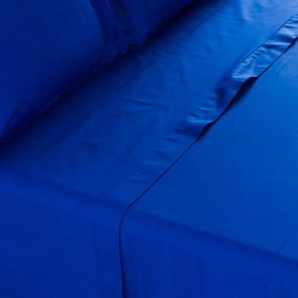 Drap de lit percale de coton Neo outremer